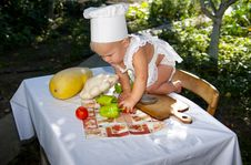 Free Active Little Cook. Royalty Free Stock Photo - 21039485