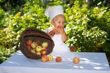 Free Cute Little Cook. Royalty Free Stock Image - 21039526