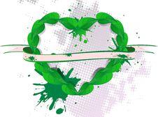 Free Background Green Banner Petal Stock Photos - 21039853