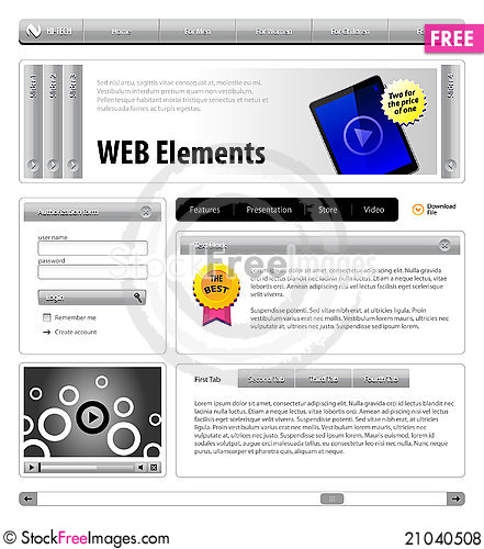 Free Website Design Elements Royalty Free Stock Photos - 21040508