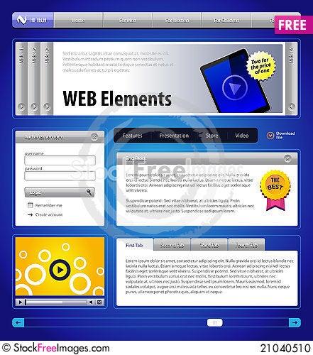 Free Website Design Elements Stock Photo - 21040510