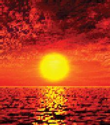 Free Beautiful Sunset Illustration Stock Photos - 21040083