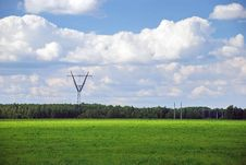 Free Green Power Line Royalty Free Stock Photos - 21040148
