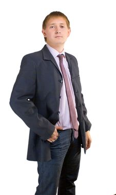 Free The Man In A Suit On A White Background Stock Images - 21041334