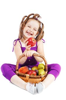 Free Girl With Fruit Royalty Free Stock Photo - 21041625