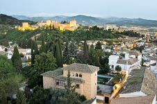Free Aerial View Of Granada Stock Image - 21041771
