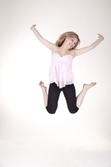 Free Jumping Girl Stock Photography - 21041892