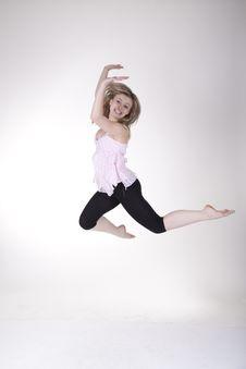 Free Jumping Girl Stock Photos - 21041923