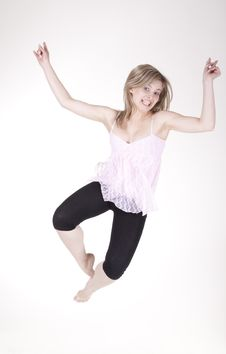 Free Jumping Girl Royalty Free Stock Photography - 21041957
