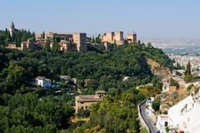 Free Aerial View Of Alhambra Royalty Free Stock Images - 21042739