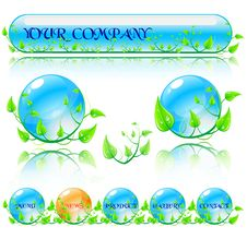Free Abstract Environmental Theme Elements. Stock Images - 21042914