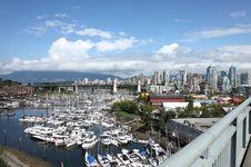 Free Granville Island Marina & Skyline, Vancouver BC. Royalty Free Stock Photos - 21044058