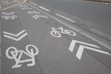Cycle Lane Royalty Free Stock Photo