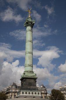 Free Place De Bastille Square, Paris Royalty Free Stock Photography - 21044127