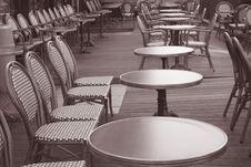Cafe Terrace, Paris Stock Image