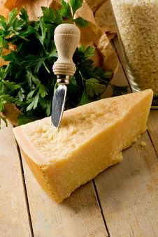 Free Ingredients For Risotto With Grana Cheese Royalty Free Stock Image - 21044526