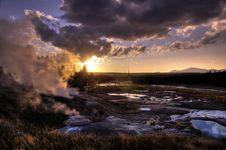 Norris Geyser Basin Stock Photos