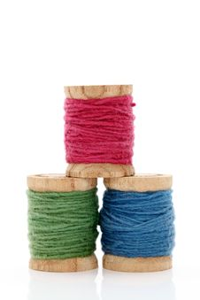 Free Spool Of Threads Royalty Free Stock Photos - 21045078