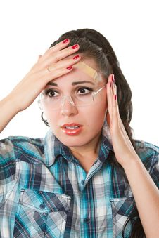 Free Girl With A Headache Stock Images - 21045184