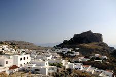 Free Town Of Lindos, Greek Stock Photography - 21045242