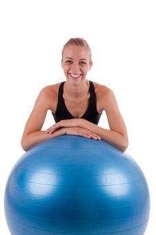 Free A Young Woman With A Ball Royalty Free Stock Photo - 21045265