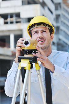 Free Architect On Construction Site Stock Photos - 21045273