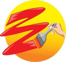 Free Paintbrush Royalty Free Stock Photography - 21045347