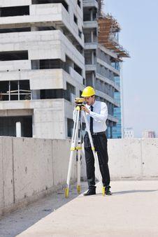 Architect On Construction Site Stock Image
