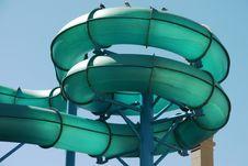 Free Green Water Slide Stock Image - 21045911