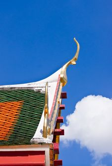 Free Detail Of Ornately Decorated Temple Roof In Bangko Stock Image - 21046241