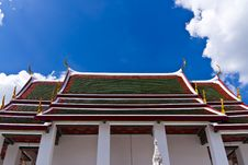 Free Traditional Thai Style Roof Temple Stock Photos - 21046363