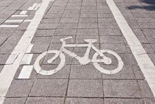 Free Bicycle Road Sing Stock Images - 21046454