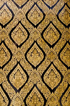 Free Thai Pattern Style On Church Wall Stock Photography - 21046642