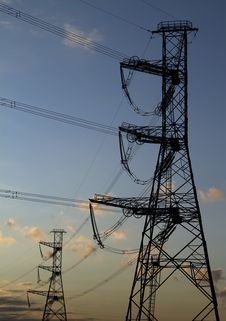Free High Voltage Power Pylons Stock Image - 21047251