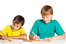 Free Two Brothers Drawing Stock Images - 21047324