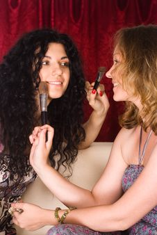 Free Two Girls Making Up Stock Photos - 21047603
