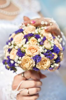 Free Bride Holding  Flowers Bouquet Royalty Free Stock Images - 21047609