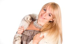 Free Pretty Girl In Fur Royalty Free Stock Photo - 21047825