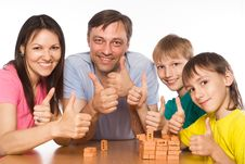 Free Happy Family Playing At Table Stock Photos - 21047903