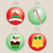 Free Decorative Christmas Ball Illustrations Stock Image - 21047921