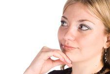 Free Cute Woman On White Stock Photos - 21047973