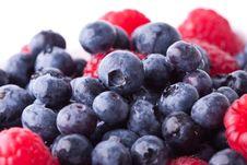 Free Rasberries And Blueberries Royalty Free Stock Photo - 21048295