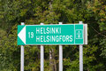 Free Road Sign To Helsinki Royalty Free Stock Photo - 21054875