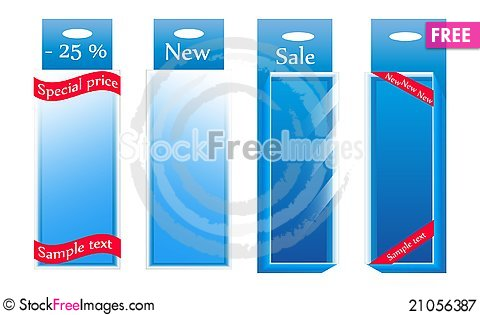 Free Sale Glass Boxes. Vector Royalty Free Stock Photography - 21056387