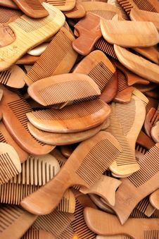Free Chinese Wood Combs Stock Photo - 21050110