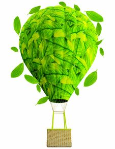 Free Green Hot Air Balloon Royalty Free Stock Photography - 21050267