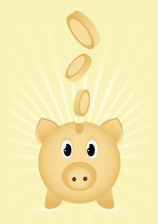 Free Piggy Bank Icon Royalty Free Stock Image - 21050276