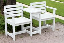 Free Twin White Chair Royalty Free Stock Photos - 21050368