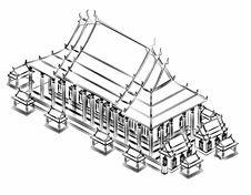 Free Thai Pavilion Drawing. Royalty Free Stock Image - 21050586
