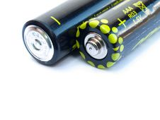Free Two AAA Batteries Stock Photos - 21050723